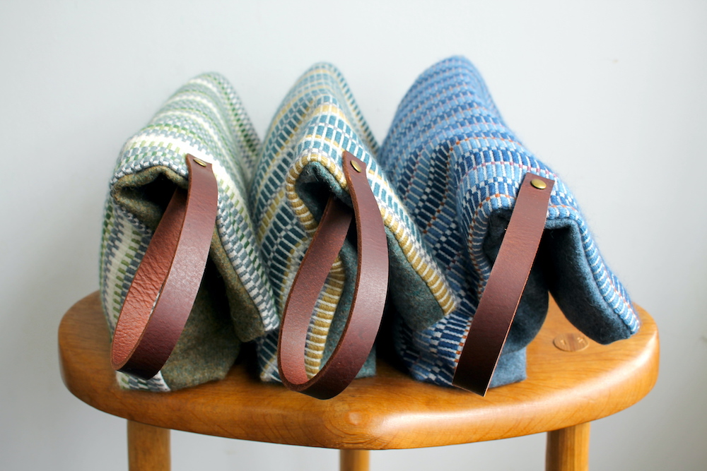 All 3 colourways of handwoven bags