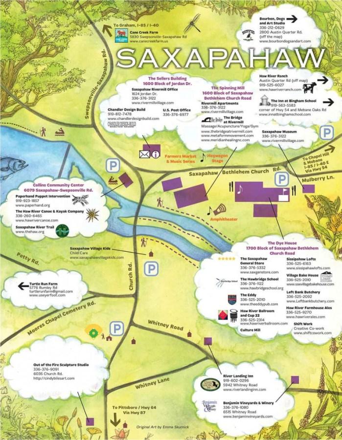 Saxapahaw Map