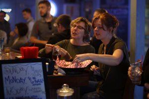 Friends Sharing an Appetizer at Helen's North Kansas City dive bar