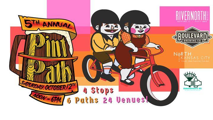 Pint Path bicycle pub crawl in North Kansas City