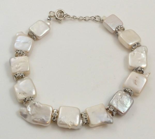 Square Biwa Pearl Bracelet