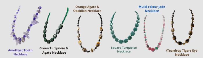 Gemstone necklace slide