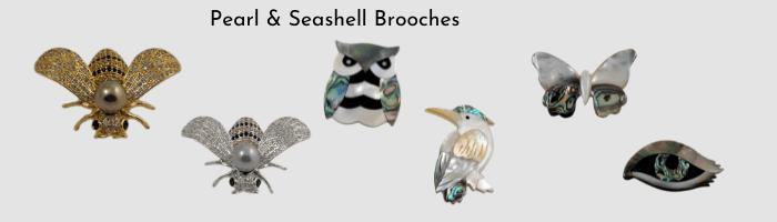 Pearl Seashell Brooch slide