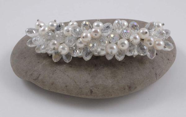 Crystal river pearl hair clip