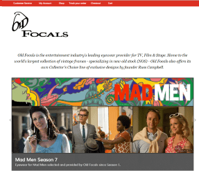 OldFocals.com homepage screenshot