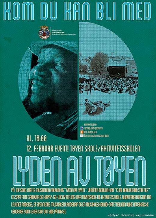 Lyden av Tøyen. Poster laget av Riverside praksisplasser
