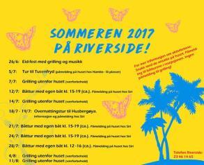 Sommeren på Riverside ungdomshus