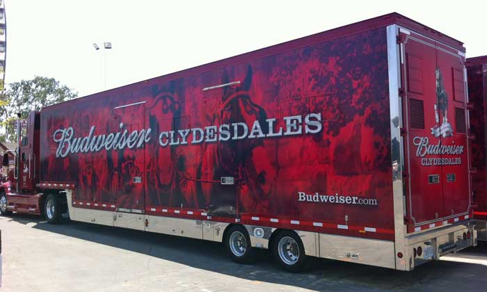 Budweiser Clydesdales Truck
