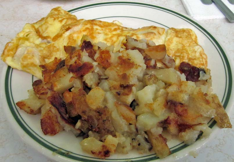 Pantry - Ham and Cheese Omelette and Potatoes