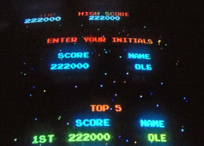 My High Score on Galaga at the Starcade