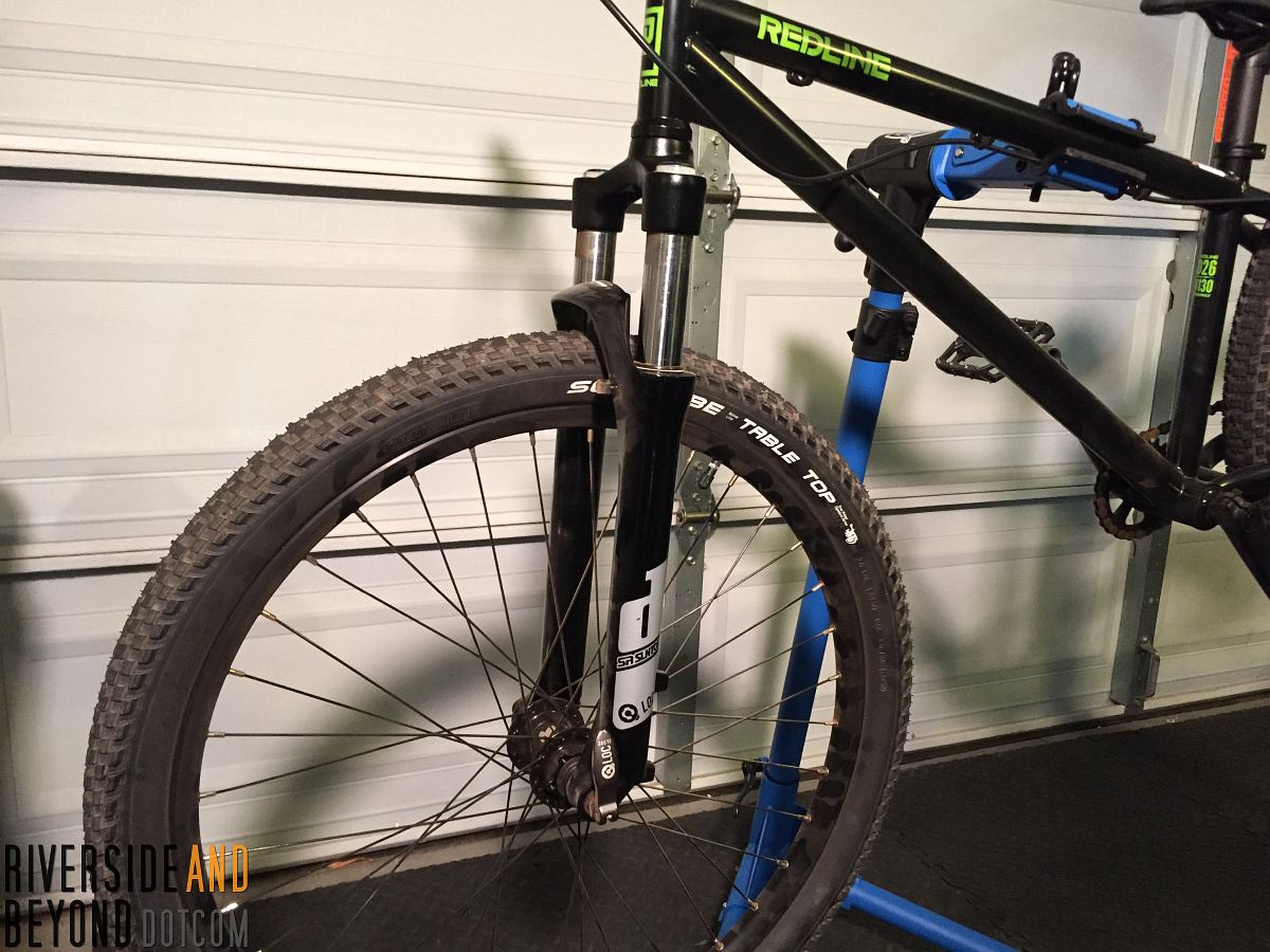 Old suspension forks to be swapped out