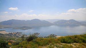 Lake Perris as seen from Terri Peak.