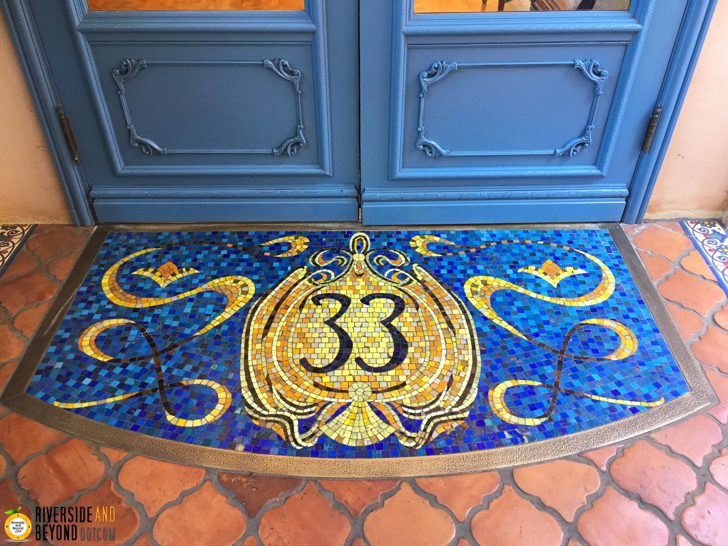 Club 33 entrance at Disneyland.