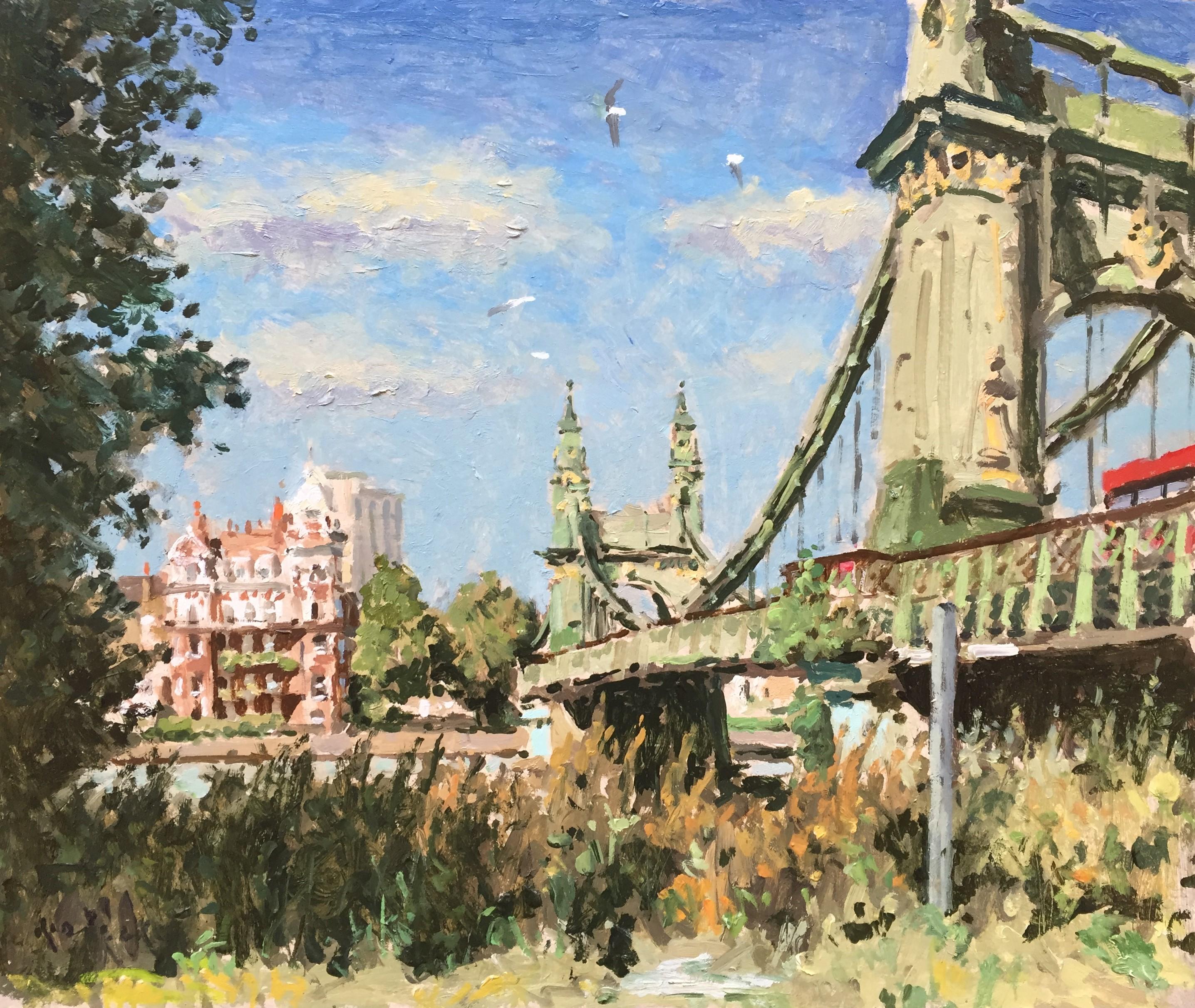 Hammersmith Bridge 2 by Rod Pearce