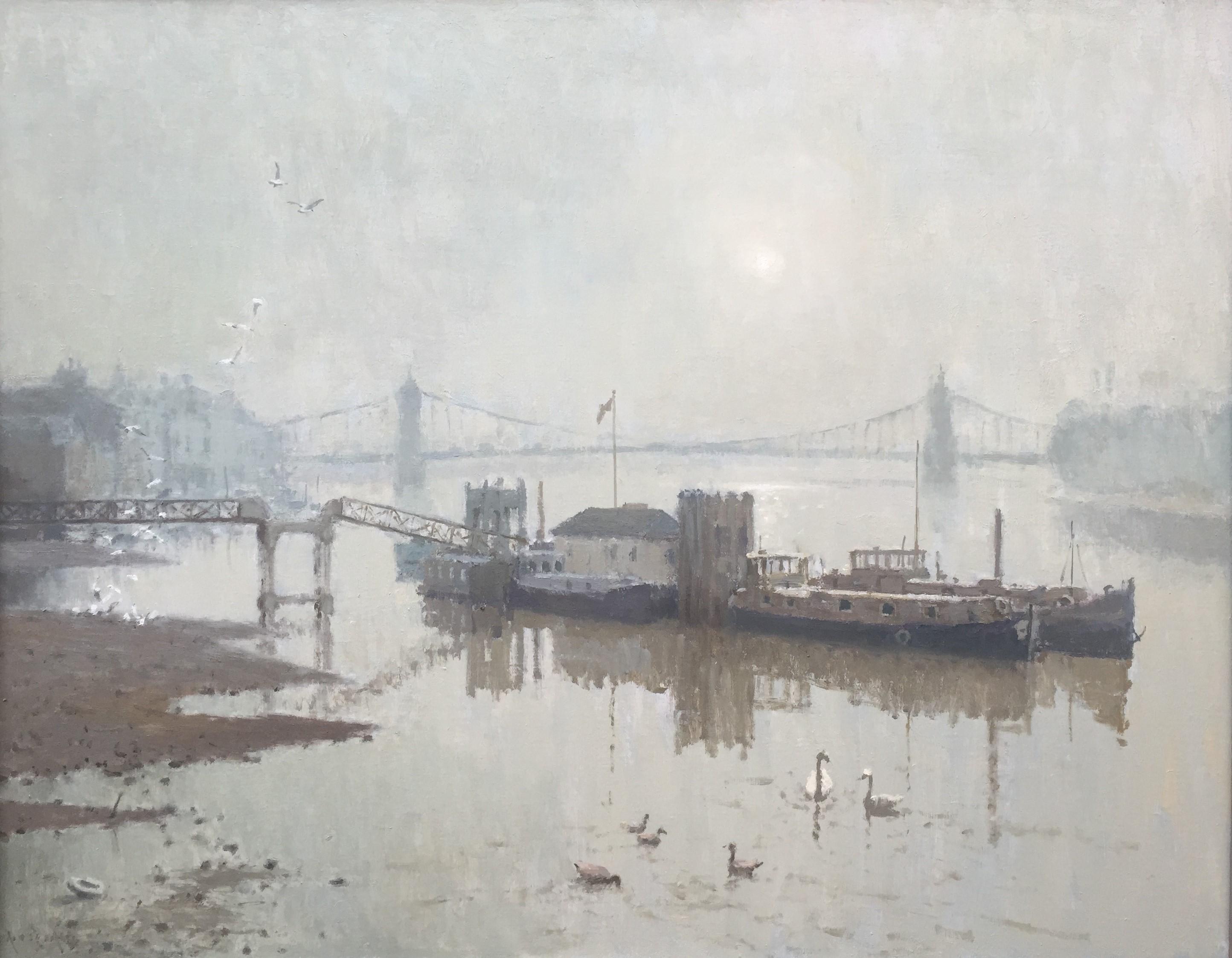 Hammersmith Bridge Dusk by Rod Pearce