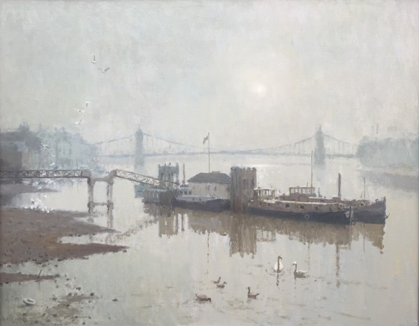 Hammersmith Bridge Dusk by Rod Pearce