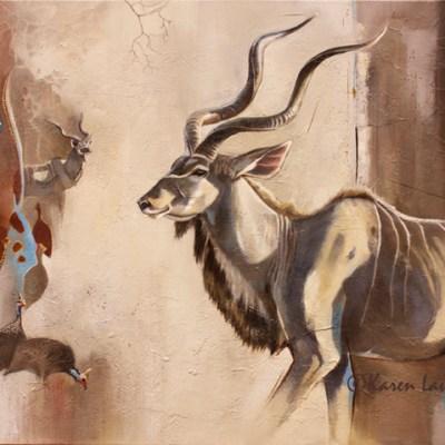 Kudus and Kangas by Karen Laurence-Rowe Riverside Gallery Barnes