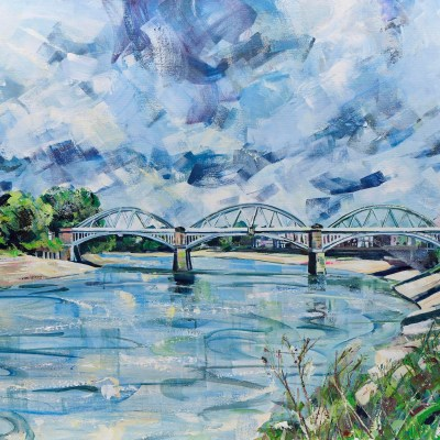 Barnes Bridge by Nadia Day Riverside Gallery Barnes