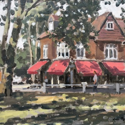 Corner of Church Road, Barnes by Rod Pearce Riverside Gallery Barnes