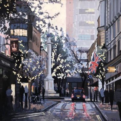 Taxi, Monument Street by Jennifer Greenland Riverside Gallery Barnes