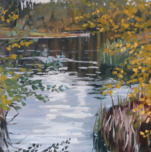 Autumn Light, The Wetland Center by Lesley Dabson