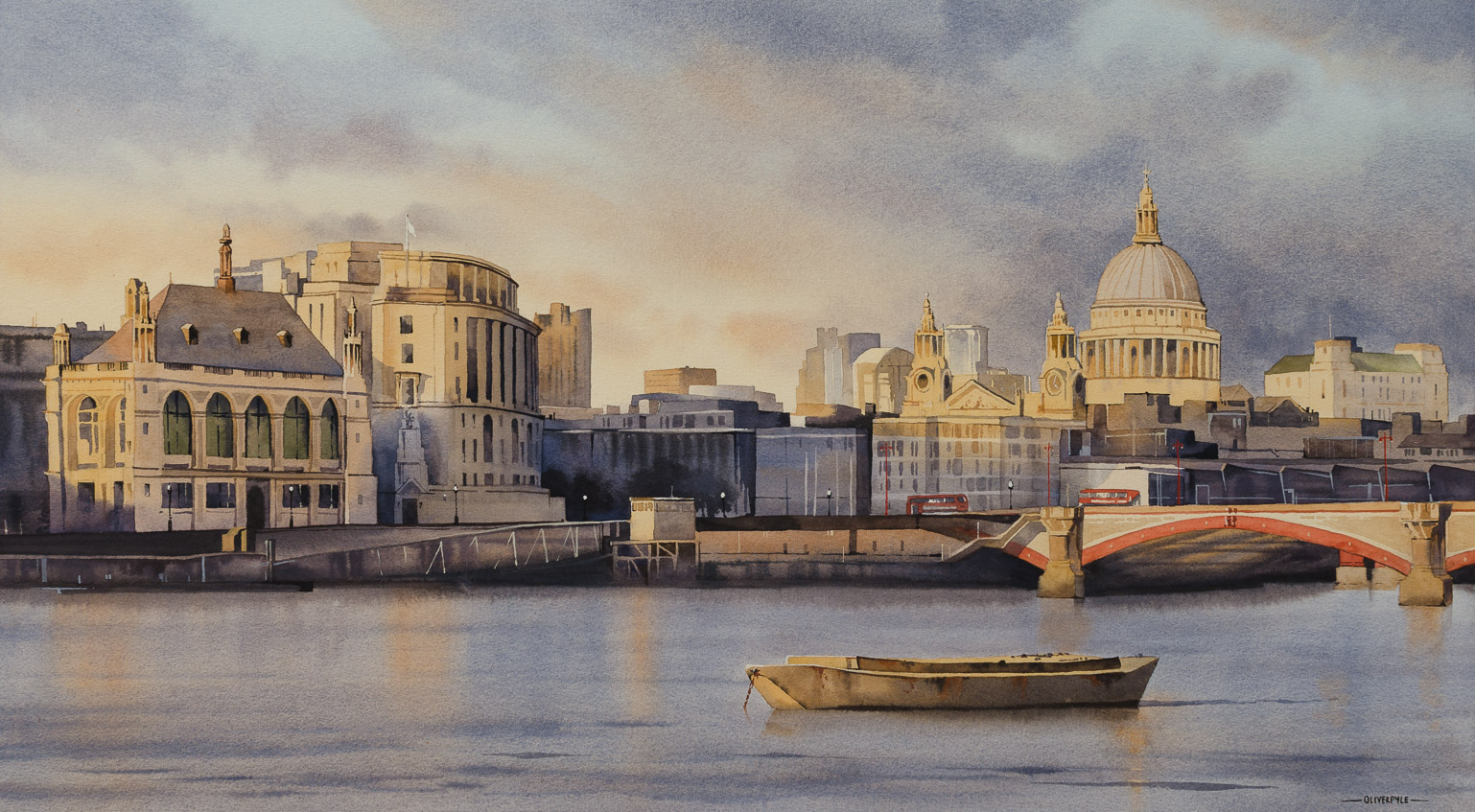 'The Golden Light of Evening, London by Oliver Pyle