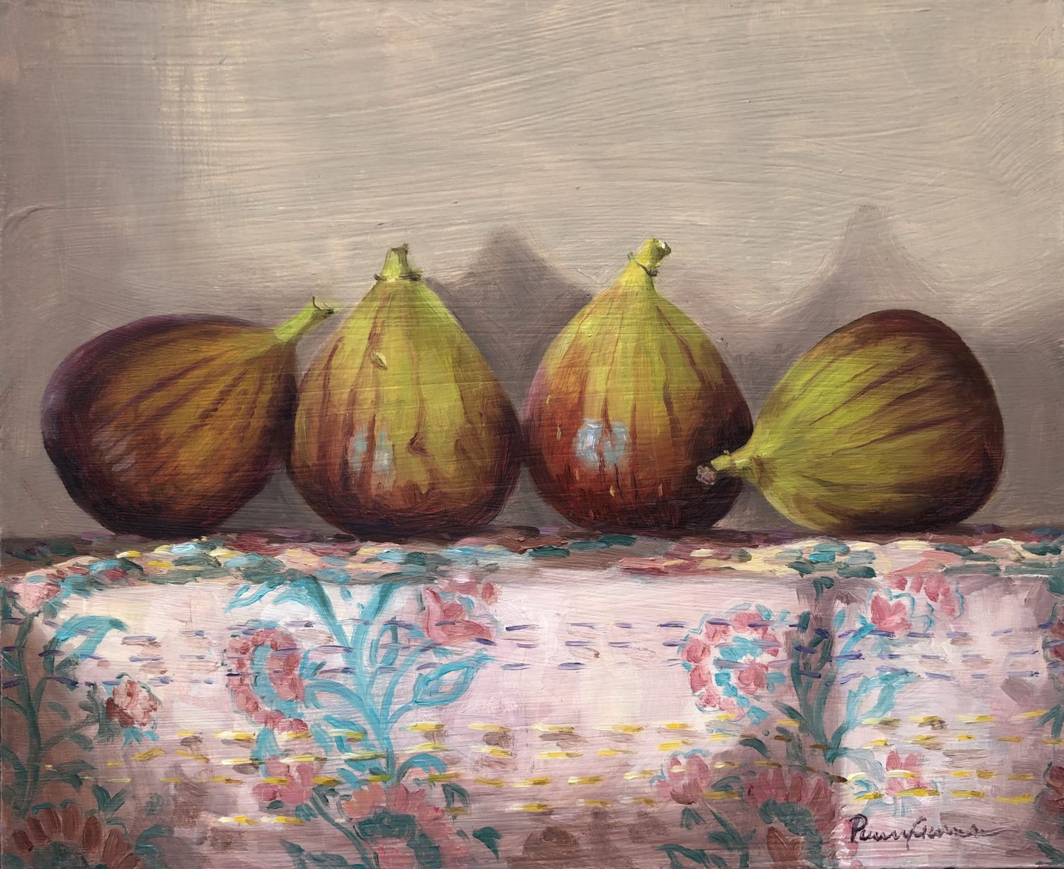 Figs on a Kantha by Penny German