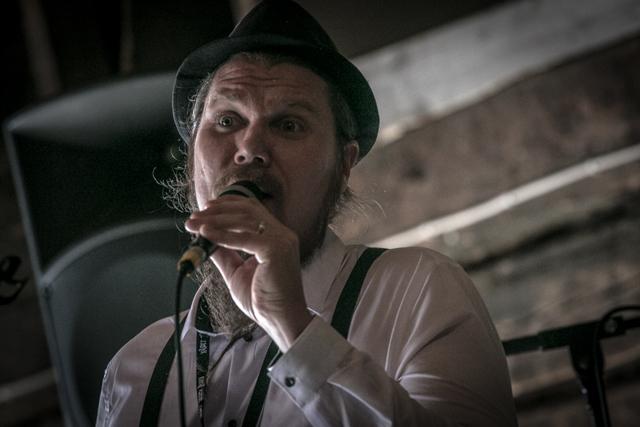 Riverside Jazzin uusi puheenjohtaja Jukka Lamminen esiintyi yhtyeineen kesän 2018 Kalottjazz & Blues -festivaaleilla