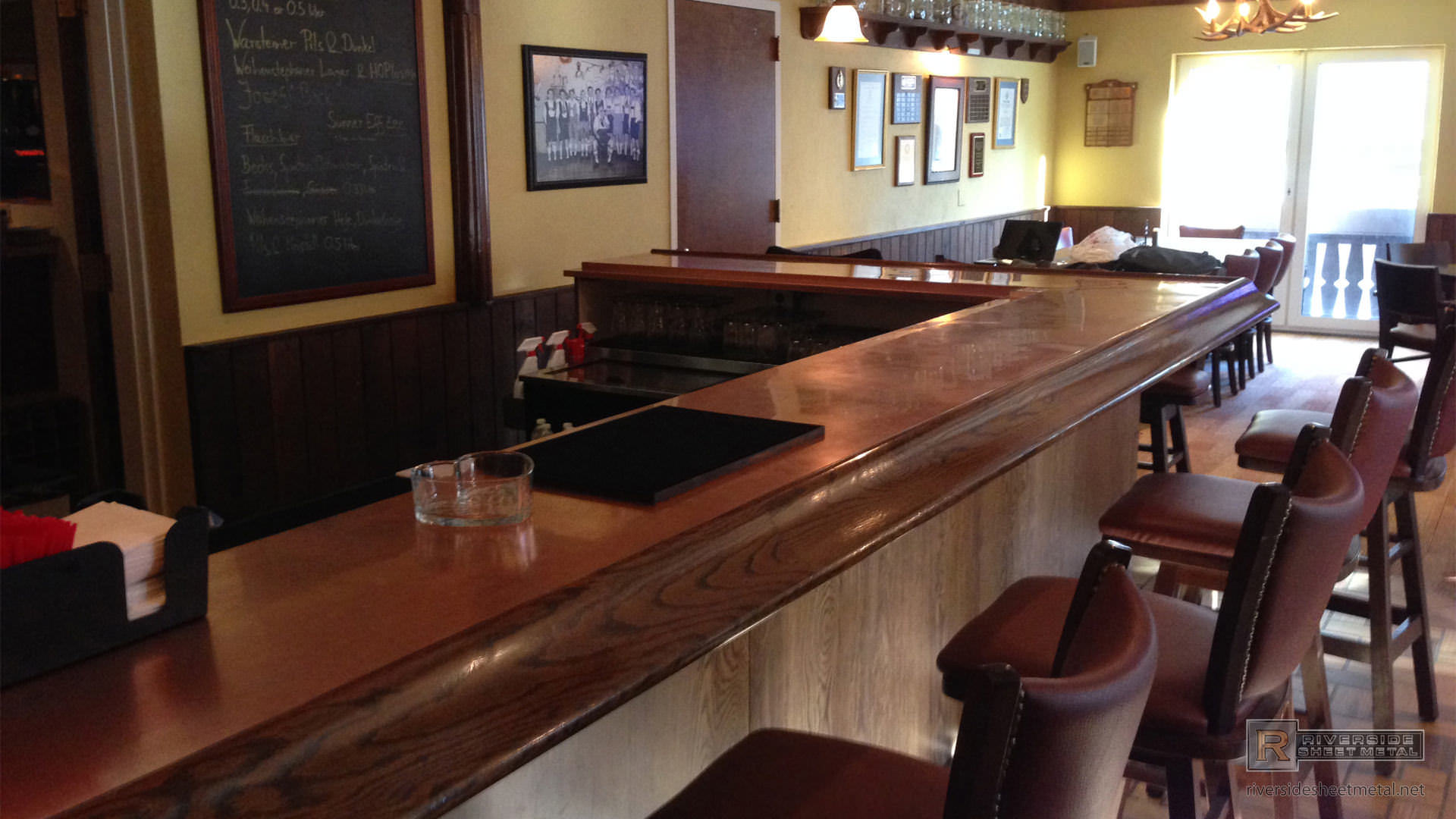 Copper Bar Top With Drink Tray Massachusetts USA