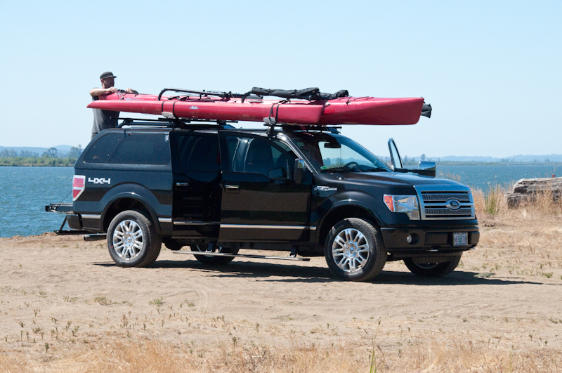 Car Topping The Boat Was A Bit Of A Challenge. We Put Three Yakima Cross Bars  On Top Of Our F150 Truck U2013 One On The Cab And Two On The Built In Rack On  ...