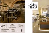 A sinistra pagina pubblicitaria istituzionale dell'azienda Liquirizia Amarelli di Rossano (Cs). A destra copertina del servizio pubbliredazionale per Corte Italiana - Via Cilea -Rende (Cs).