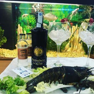 Abbinamento di Gin e pesce. Ristorante Hippocampus.