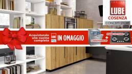 Promozione speciale: Piano cottura e lavastoviglie omaggio su acquisto cucina LUBE! Foto di For Design Arredamenti.