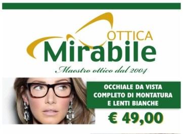 Offerta occhiali da vista completo di montatura e lenti bianche. Ottica Mirabile.
