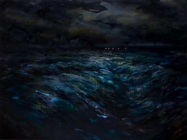 01_Enrico Minguzzi, La successione, 2014, acrilico e olio su tela, cm 120x160