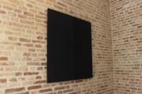 Leonardo Petrucci, Der Mond, 2014, tela nera su tavola, 130x130 cm