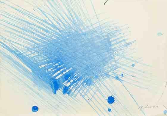 2. Yasuo Sumi, 1954, Senza titolo, 26x36 cm, opera su carta