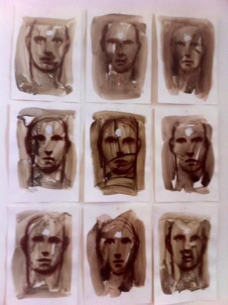 Stefania Fabrizio, Il disegno della mia mente, 2013 Tecnica mista su carta