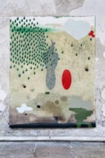 Mirko Baricchi, Archè #2, 2016, tecnica mista su carta fabriano 300 gr, cm. 200x150, foto Luca Peruzzi