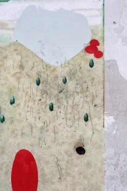 Mirko Baricchi, Archè #2, particolare 2, 2016, tecnica mista su carta fabriano 300 gr, cm. 200x150, foto Luca Peruzzi