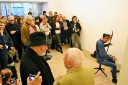 Wang Du, Someday, Zoo Zone Art Forum, Roma, 2016 - Opening . In primo piano Michelangelo Pistoletto e Achille Bonito Oliva
