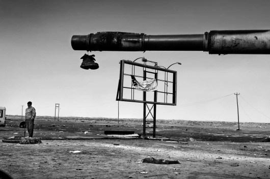 Libya March-April 2011 Ajdabiya Gheddafi tank hit by the Nato bombing