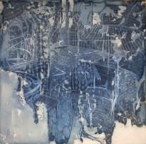Federico Guerri, Riflesso, 2014, grafite, pastello e acquerello su tela, 120x120 cm, Courtesy Gasparelli Arte Contemporanea