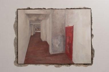 p. 080_ARTEFORTE_Forte superiore di Nago_Boccanera Gallery_Walker Keith Jernigan_Looking in_2014_olio su tela_60x80 cm