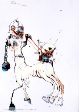 p. 084_ARTEFORTE_Forte superiore di Nago_Alessandro Casciaro Art Gallery_Kinki Texas_Epimetheus junior - smaler_2016_mixed media on paper_84x59 cm