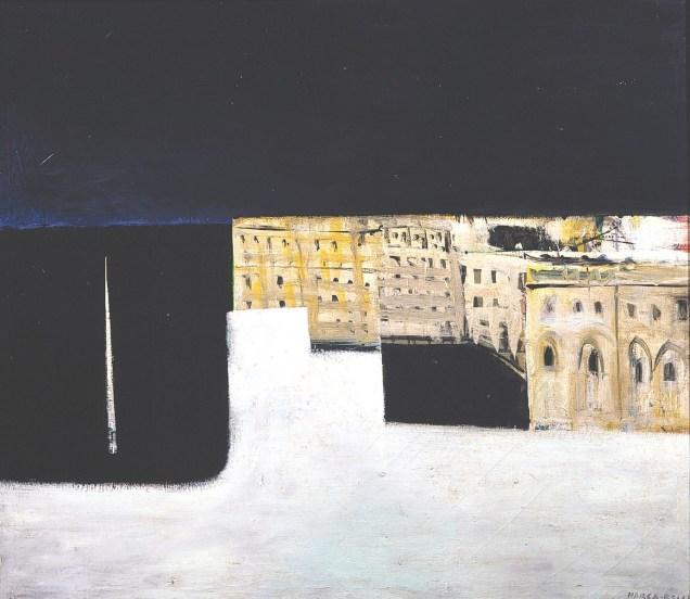 Conrad Marca-Relli, The Port, 1951 - oil on canvas - 108,5 x 124,5 cm.