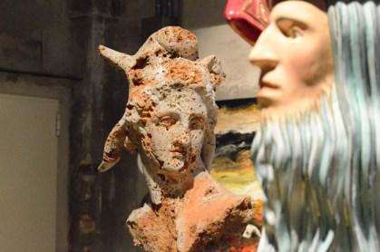 Luigi Ontani, leonardio, ceramica, 2000