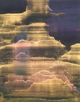 Matteo Montani, Himn,2017 olio e polveri metalliche su carta abrasiva intelata cm 130x10...-3