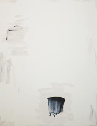 Lee Ufan, With Winds, 1991, oil on canvas, cm 228x182, Lorenzelli Arte