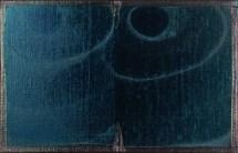 Antonio Catelani, Assenza in blu di Prussia - Olio su tela, 26 x 41 cm (2016)